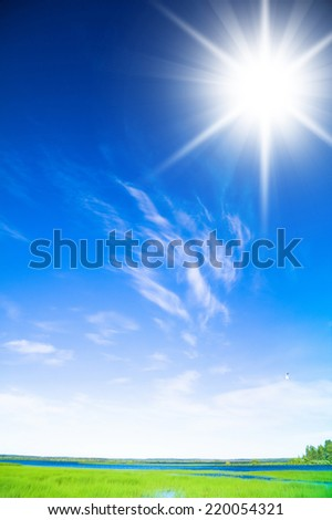 Broad Daylight Peaceful Heaven  - stock photo
