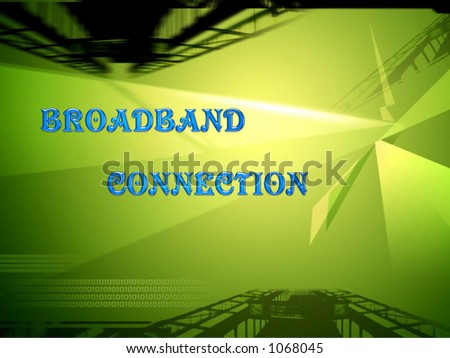 Broadband connection - stock photo