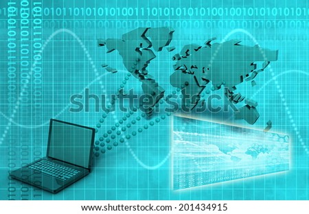Broadcast Engineering and Online Tracker as Art - stock photo