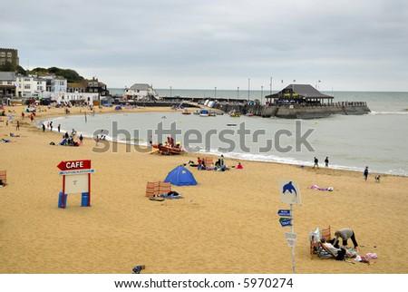 Broadstairs beach in Kent, UK - stock photo