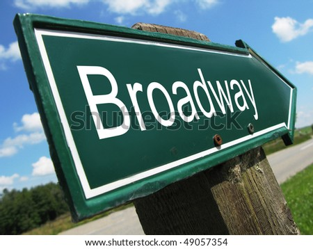 BROADWAY road sign - stock photo