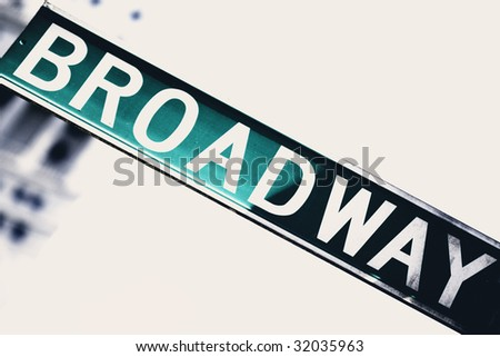 Broadway sign. High contrast. - stock photo