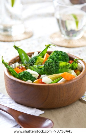 Broccoli, Beans and Barley salad - stock photo