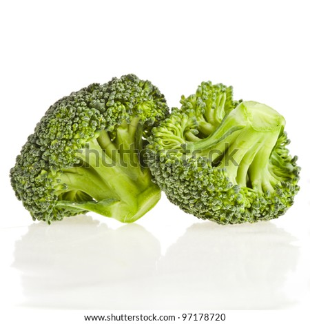 Broccoli  cabbage isolated on white