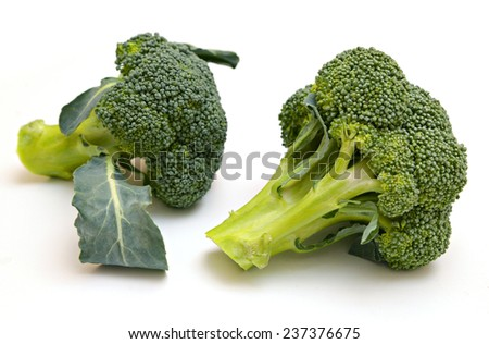 broccoli isolated - stock photo