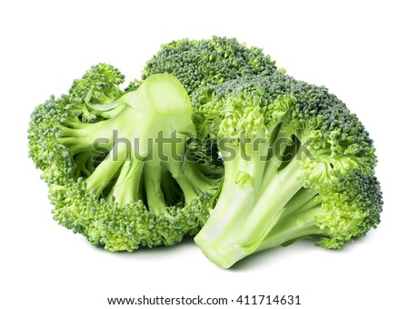 Broccoli isolated on white background as package design element