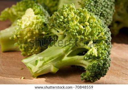 broccoli ready to prepare - stock photo