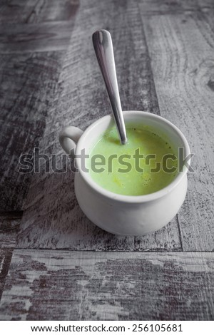 Broccoli soup - stock photo