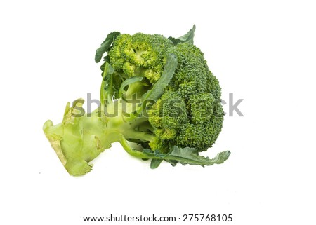 Broccoli vegetable isolated on white background, Healthy Nutritious - stock photo