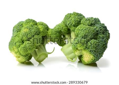 Broccoli vegetable on white background  - stock photo