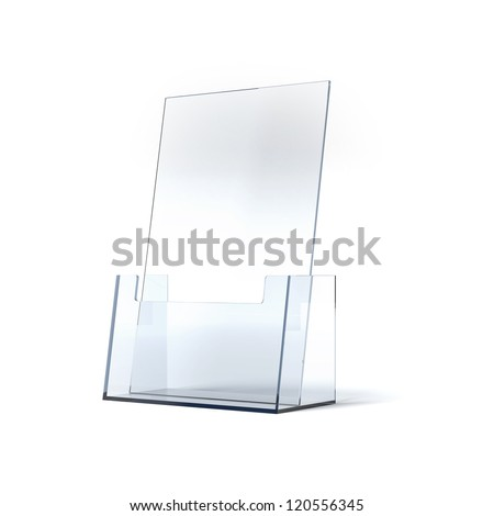 Brochure holder - stock photo