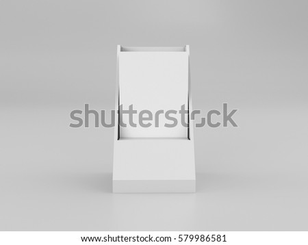 brochure leaflet holder template mock up 3d rendering - Paper Brochure Holder Template