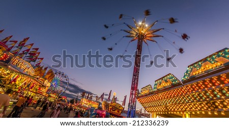 BROCKTON, USA - JULY 04: The traditional Brockton Fair in Massachusetts, USA which commemorates the Independence day, attracts thousands of locals and tourist from all over the state on July 4, 2012. - stock photo