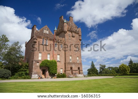 Brodick Castle in Arran on a summer day - stock photo