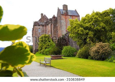 Brodick Castle on the Arran Island, Scotland.
