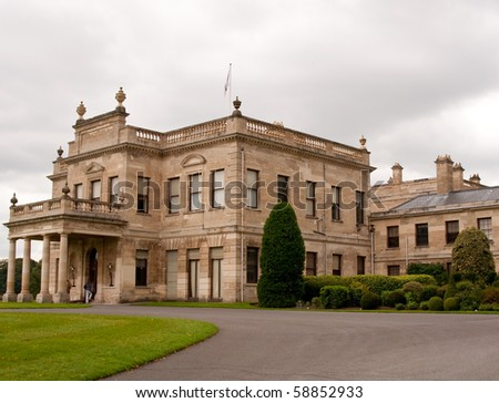 Brodsworth Hall from the driveway - stock photo