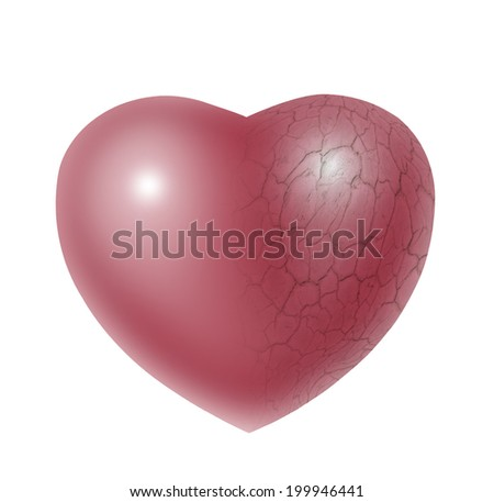broken and lonely heart  - stock photo