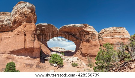 Broken Arch in Arches National Park, Utah, USA - stock photo