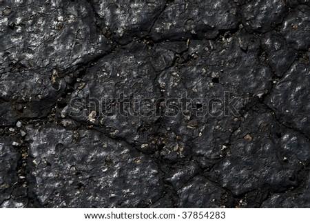 broken asphalt - stock photo