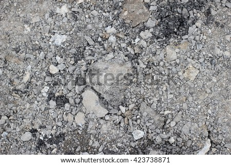 Broken Asphalt as abstract background or backdrop - stock photo