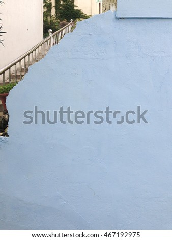 Broken Blue Wall