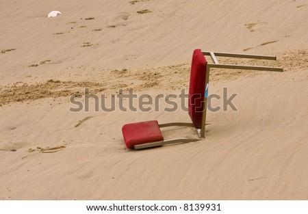 Broken chair - stock photo