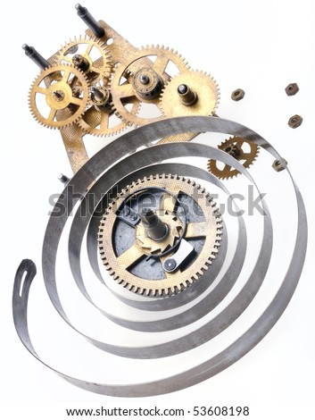 Broken clock - stock photo