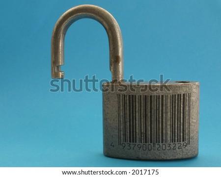 broken code metaphor, bar code is fake - stock photo