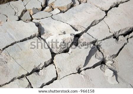 Broken concrete - stock photo