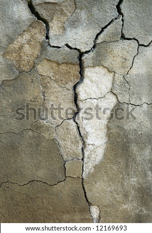 Broken Concrete background - stock photo