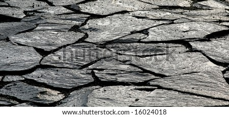 broken concrete sidewalk - stock photo