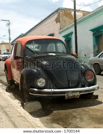 Broken down in Mexico - stock photo