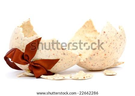 Broken easter egg - stock photo