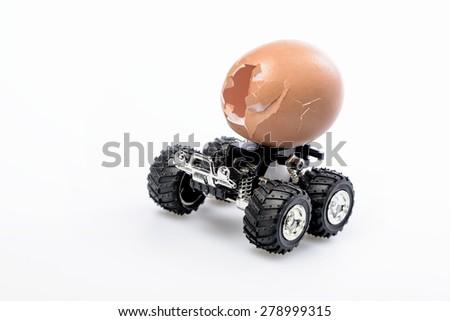 Broken egg - stock photo