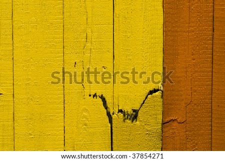 broken fence - stock photo