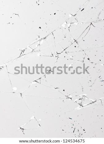 Broken flat panel in a macro image - stock photo