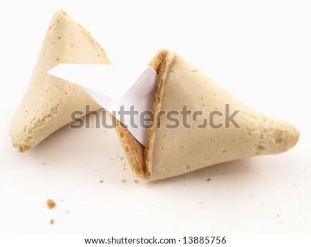 Broken Fortune Cookie - stock photo