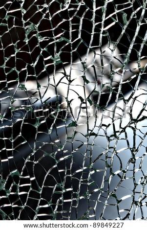 Broken glass. - stock photo