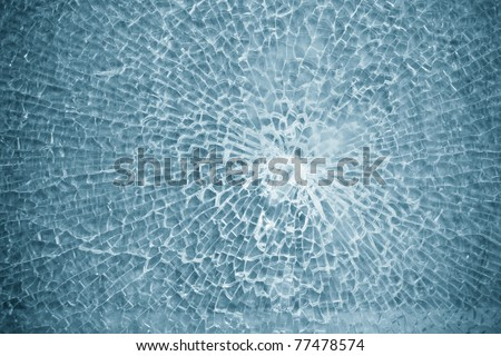 broken glass,background of cracked window - stock photo
