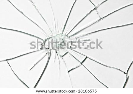 broken glass texture close up - stock photo