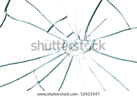 broken glass texture close up - stock photo