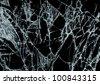 Broken glass texture over black background - stock photo