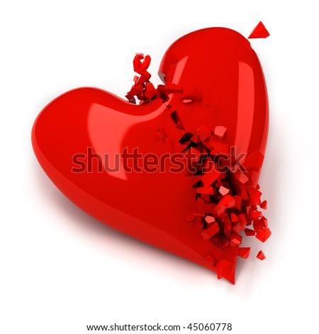 Broken heart - stock photo
