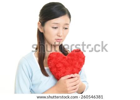 Broken hearted woman - stock photo
