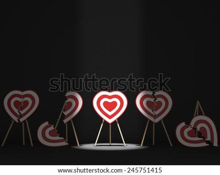 Broken Hearts - stock photo
