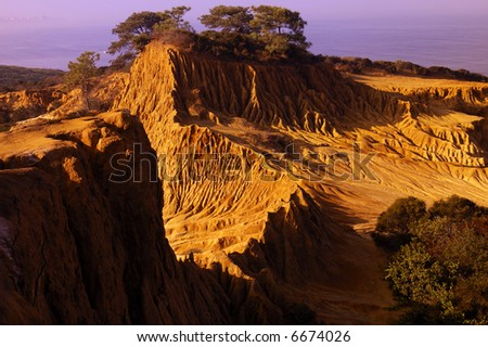 Broken Hill at Torrey Pine State Park - stock photo