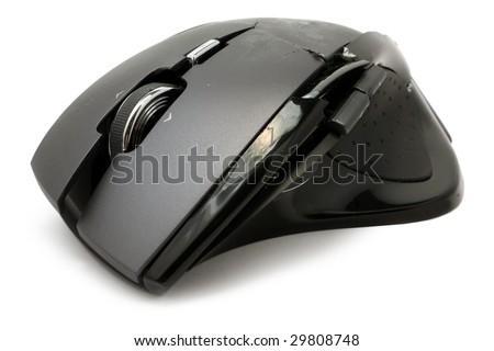 Broken mouse - stock photo