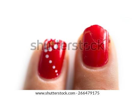 broken nail - stock photo