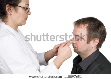 broken nose - stock photo