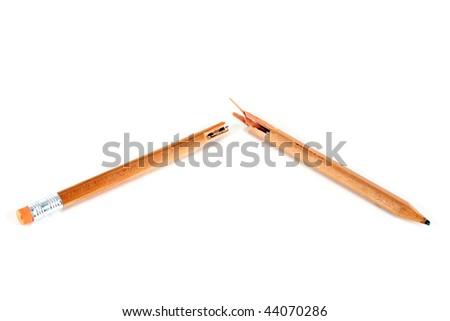 Broken Pencil - stock photo